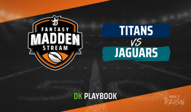 Madden Stream: Titans vs. Jaguars DraftKings Showdown Strategies, Depth Charts and Captain's Picks