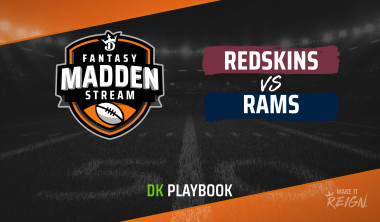 Madden Stream: Redskins vs. Rams DraftKings Showdown Strategies, Depth Charts and Captain's Picks